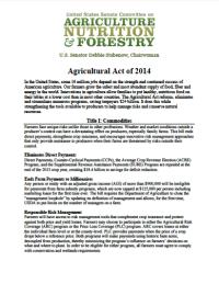 USDA Farm Bill