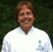 carol in chef coat